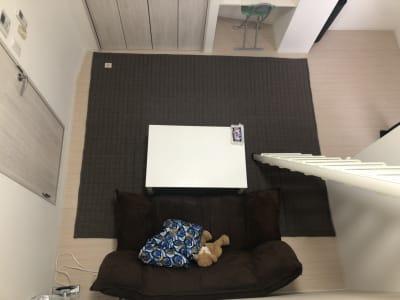 ロフトから見た全体のスペースです。物が少なく広々としていています♪ - ロフトのある空間 #ロフトのある空間の室内の写真