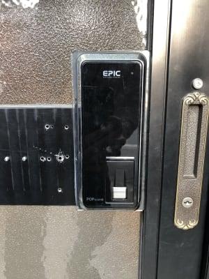 黒いパネルを触っていただき数字が点灯しましたら暗証番号を入力してください。 - みゆき旅館 みゆき旅館(サクラ)の設備の写真