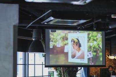 100インチ大型スクリーン&プロジェクター 無料お貸出し - Jam Orchestra レストラン&オープンキッチンの設備の写真