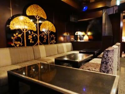 ラウンジならではのソファーの質感の良さ♪ こちらのBOX席は【14~16名様迄】 - ✨ fantasy✨ 多目的スペースの室内の写真