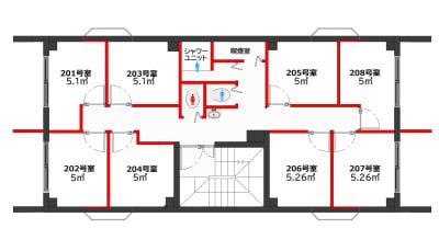 グリーンハウス 新宿市谷 新宿市谷-202号室貸切個室の室内の写真