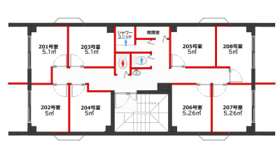 グリーンハウス 新宿市谷 新宿市谷-203号室貸切個室の室内の写真