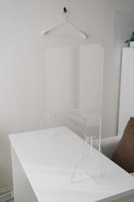 飛沫防止アクリルパネル - ネイル専用サロンモンレーブ川崎店 Bブースの設備の写真