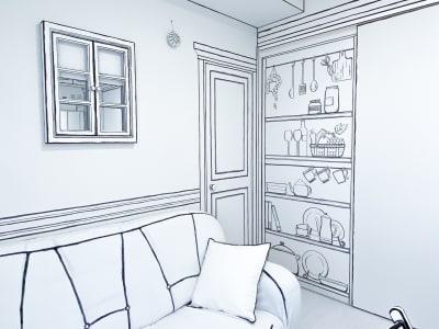 ドアを閉めると、頑張って書いた部分が出てくるので、是非見てほしいです( ;∀;)! - H.R.S.O 則武 Heavenly則武2Dの室内の写真