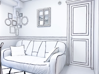ソファは3人掛けになります。 - H.R.S.O 則武 Heavenly則武2Dの室内の写真