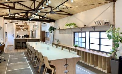 室内は広々としています - キッチン&会議室 上町サンク 2階スペースの室内の写真