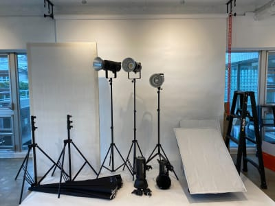 たくさんの撮影機材がございます - TRANSPARENTスタジオ フォトスタジオ、レンタルスペースの設備の写真
