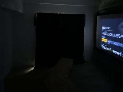 遮光カーテンを引いておりますので、昼間でも映像に没入できます(ライトの明るさは調整可能です) - PLANT THEATER 天満橋の室内の写真