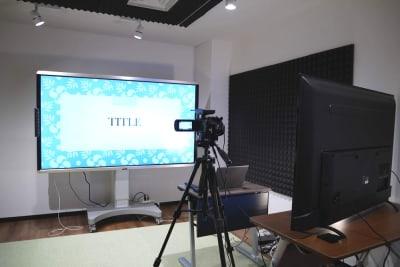 大型電子黒板利用可 - LiLeaS(ライラス) RoomA(撮影/配信パック)の室内の写真