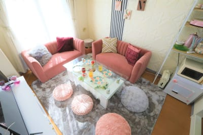 可愛いワンルームタイプのお部屋です✨ - ココリアCute横浜 とっても可愛いプライベート空間の室内の写真