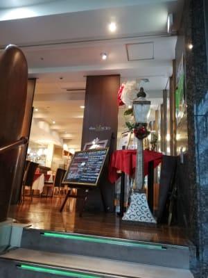 レストランchez MACIO 貸切フロアの入口の写真