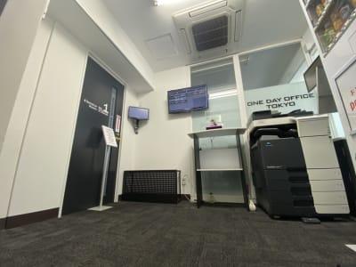 ONE DAY OFFICE TOKYO コロナ対策 貸会議室の入口の写真