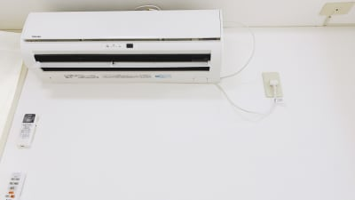 エアコンで快適に。 - レンタルスタジオ「Bee」 多目的プライベートスタジオの設備の写真