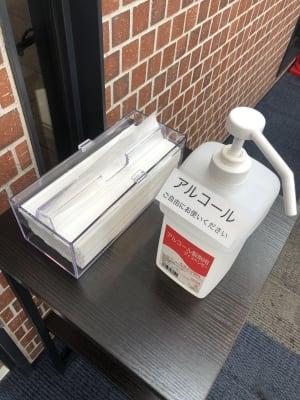 アルコール除菌完備 - 恵比寿カルフール Cルームの設備の写真