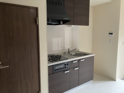 キッチンです。2口コンロです。 - 大崎・五反田駅近・築浅スペース 大崎・五反田の駅近・築浅スペースの室内の写真