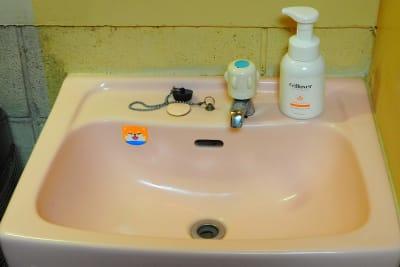 古いけど独立洗面台あります。 - RUE大塚 自習室の室内の写真