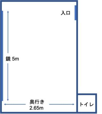 間取り - レンタルスタジオ Sunny 高田馬場駅1分のダンススタジオの室内の写真