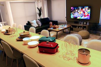 ゲーム各種🎮ホットプレート、お皿、カトラリー等のご用意もございます🍷🎉  ※詳しくは【設備・サービス】にてご確認ください。 - TS00169代々木 マルチメディアスペースの室内の写真