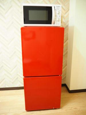 冷蔵庫とレンジ - オシャレンタル池袋 撮影・パーティースペースの設備の写真