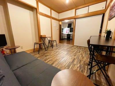 1F 団らんスペースからキッチンスペース - 【新今宮】SI06 タスワンスペースの室内の写真
