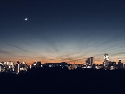 快晴の日は富士山が浮かびます - Medic room 都内屈指の絶景ルーフトップの室内の写真