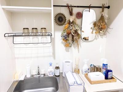 女性に嬉しい洗面台 - 1cho room 青山一丁目・外苑前すぐ✨の設備の写真