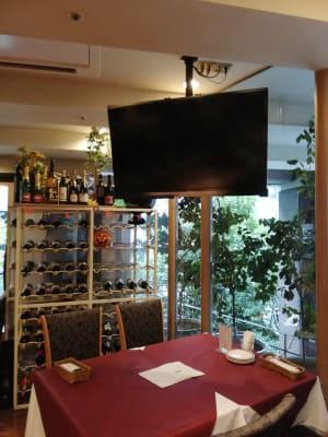 レストランchez MACIO 多目的スペース(モニター付き)の設備の写真