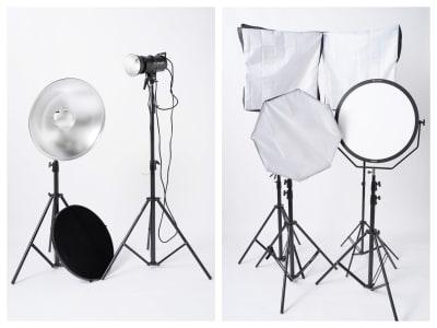 ストロボ、ビューティーディッシュ、定常光は無料でご利用いただけます。 - スタジオ「μ」(スタジオミュー) 撮影スタジオ(ハウススタジオ)の設備の写真