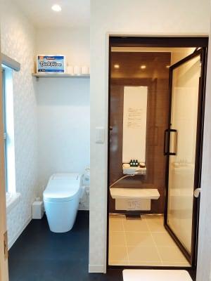 bliss space渋谷  パウダースペース  お着替えの後にシャワーも利用可能です。 - bliss space bliss space渋谷の室内の写真