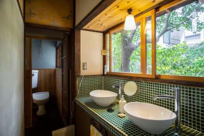 手洗い場 - 日暮荘 【個室・お二人利用】仕事や勉強にの設備の写真