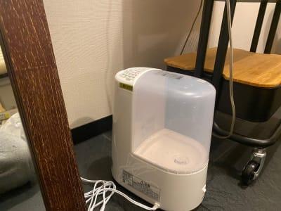 加湿器 - シェアサロン らくさす レンタルサロンの設備の写真