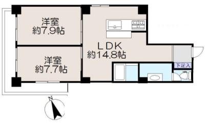 間取り - 浅草2LDK 浅草スタジオの設備の写真
