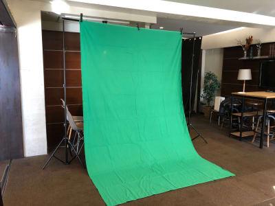 自立式背景スタンド(グリーン) - GOBLIN.目黒店 GH/AB 【GH】会議・セミナー・写真撮影の設備の写真