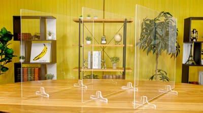 感染症対策 アクリルパーテーション - TMCミカンスタジオ M1スタジオの室内の写真