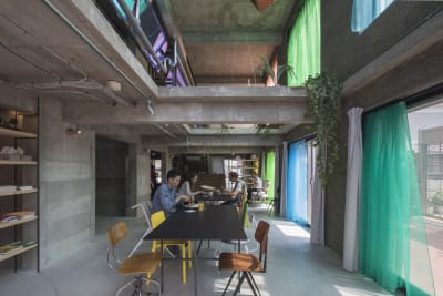 有名建築家設計のコンクリートの小さなホテルとして建築されましたが、現在は一棟貸切のハウススタジオとして営業しています。 - Blend Studio レンタルスタジオ4時間プランの室内の写真