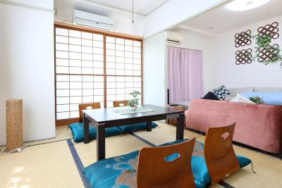 リビングルーム隣の和室 - 名古屋の部屋 グリーンスペース名古屋の室内の写真