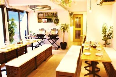いつでも快適な室内BBQ♪ - 渋谷ガーデンルーム4F 渋谷ガーデンルーム4Fの室内の写真