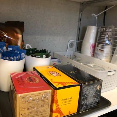 お好みのアフターティーやコーヒーで締めの癒しを! - Ma レンタルサロンの設備の写真