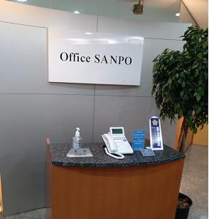 Office SANPO受付です。 - 三豊ビル 1名様でのスペース336の入口の写真
