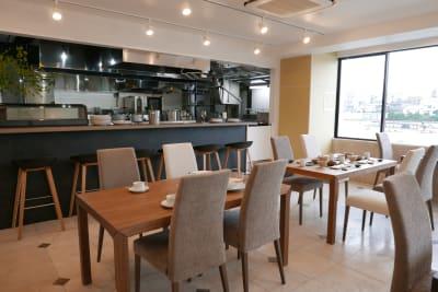 日本橋RIKYU リバーサイド飲食店撮影スペースの室内の写真