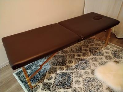 施術用ベッド - Suu Suu 扇町の設備の写真