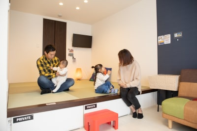 家族でのご利用 - ゲストハウス岐阜羽島心音 フルキッチン付きレンタル個室の室内の写真