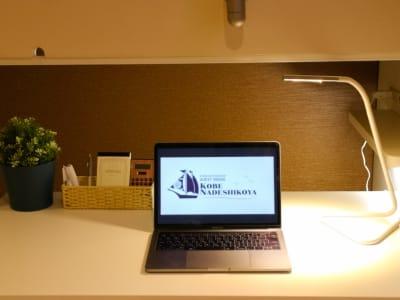 *PCは付きません - ゲストハウス神戸なでしこ屋 個室コワーキングスペースの室内の写真