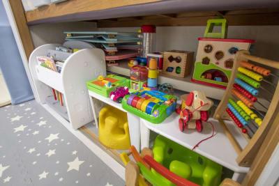 おもちゃの貸し出しが可能です。 - 親子のくつろぎどころ りみぃ 貸切レンタルルームの設備の写真