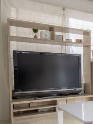 テレビ(DVDプレイヤー内臓) - 親子のくつろぎどころ りみぃ 貸切レンタルルームの設備の写真