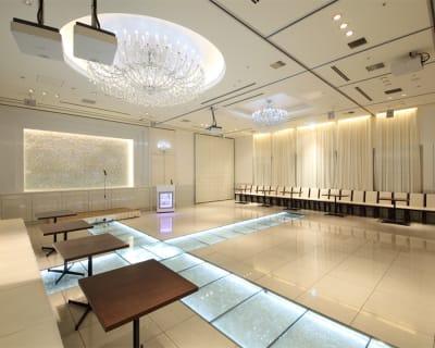 (ABCルーム)例 スライディングドアーで仕切る形です。隣にお客様が入ることがございます。 - 銀座レンタルスペース、貸し会議室 アリス銀座ABCルーム  の室内の写真