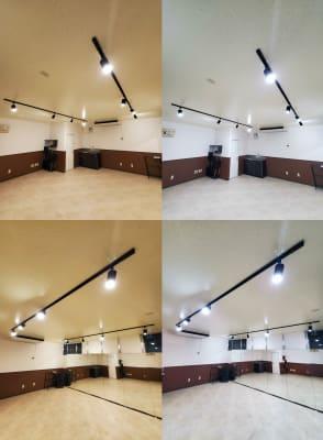 電球色⇆昼白色切り替えリモコン - スタジオカリマ/カリマ松本 ダンス、ヨガ、トレーニングなどにの室内の写真