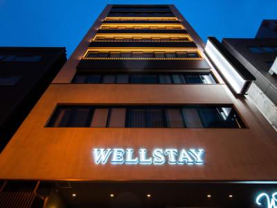 外観はこちら - WELLSTAY難波 ホテルのカフェスペースの外観の写真