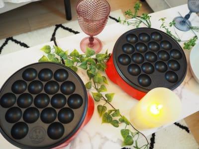 たこ焼き器2つ🐙 - ブラピ池袋 ガーリーなフレンチモダンスペースの室内の写真