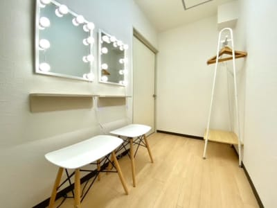 着替えスペース・パウダールームがあります。 - レンタルスタジオ キブラの室内の写真